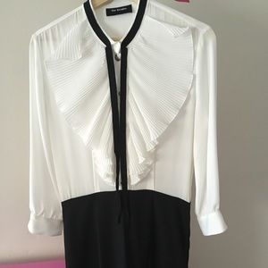 The Kooples black with white collar